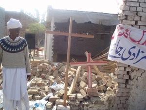 église détruite au Pakistan